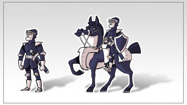 Character Designs - Dunkler Ritter