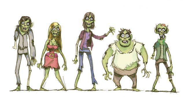 Ein paar Zombies